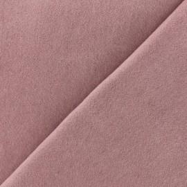 Tissu laine et cachemire Luxe - bois de rose x 10cm