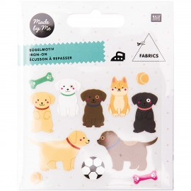 Rico Design Iron-On Patch Set - Dog