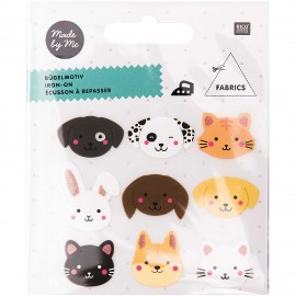 Rico Design Iron-On Patch Set - Animal Head