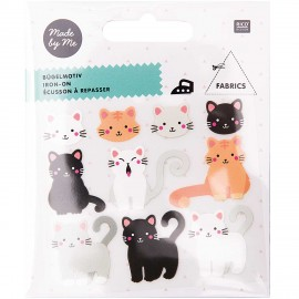 Rico Design Iron-On Patch Set - Cat