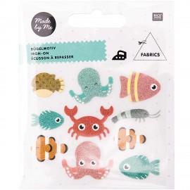 Set Écusson à Repasser Rico Design - Animal Marin