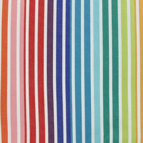 Tissu toile Plein Air Fréjus (320cm) - Arc en ciel x 10cm