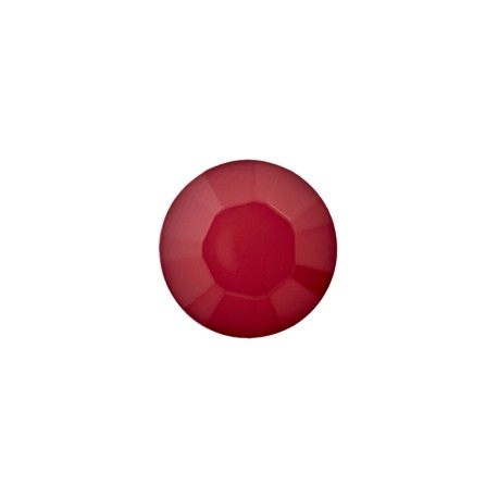 9 mm Polyester Button - Ruby Red Damantis