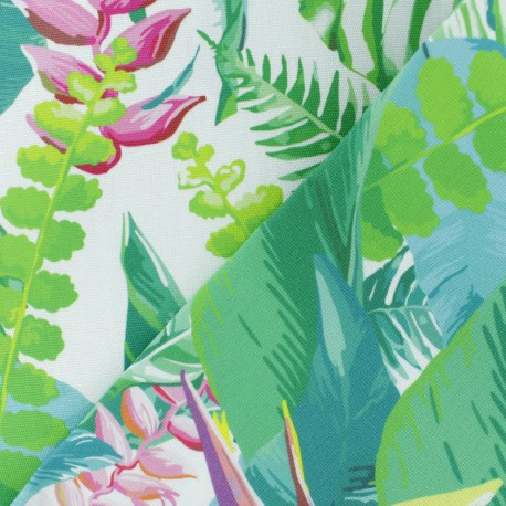 Special Outdoor canvas fabric (160cm)- White Bornéo x 10cm