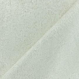 Tissu éponge bébé bambou - écru x10cm