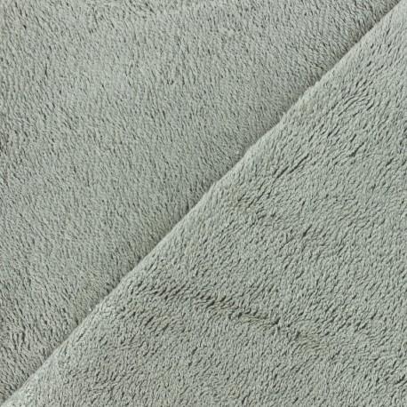 Tissu éponge bébé bambou - gris clair x10cm