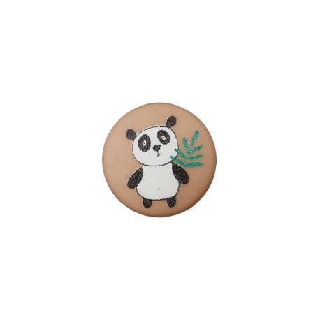 12 mm Polyester Button - Hazelnut Little Panda