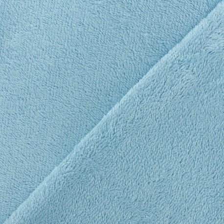 Tissu éponge bébé bambou - bleu ciel x10cm