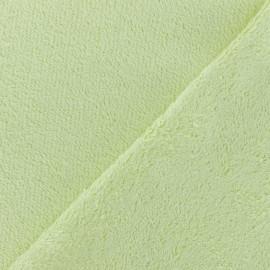 Tissu éponge bébé bambou - vert tendre x10cm