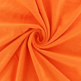 Tissu jersey fluo chiné - orange x 10cm