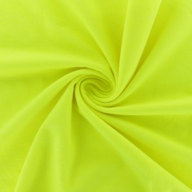 Jersey fabric - mottled neon yellow x 10cm