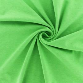 Tissu jersey fluo chiné - jaune x 10cm
