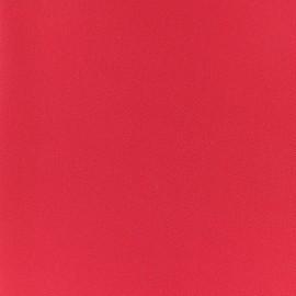 Tissu crêpe uni - rouge coquelicot x 10cm