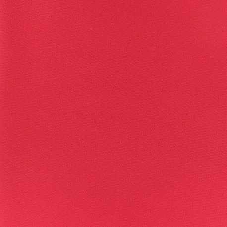 Plain Crepe fabric - poppy red x 10cm