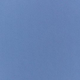 Tissu crêpe uni - bleu azur x 10cm