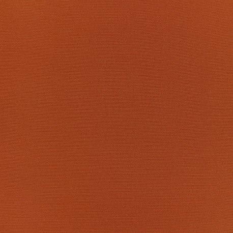 Plain Crepe fabric - Pumpkin x 10cm