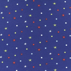 Cotton jersey fabric - blue Circus star x 10cm