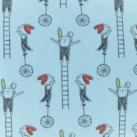 Tissu jersey Circus voltige - bleu x 10cm