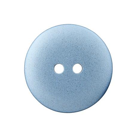 Metallic Aspect Polyester Button - Blue Futuris