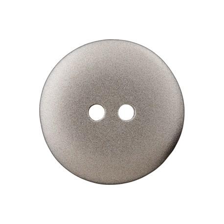 Metallic Aspect Polyester Button - Silver Futuris