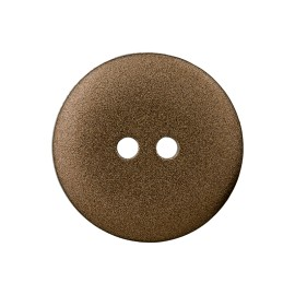 Metallic Aspect Polyester Button - Bronze Futuris