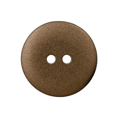 Metallic Aspect Polyester Button - Bronze Futuris