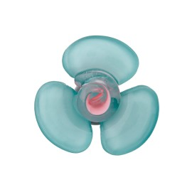 Glass Aspect Polyester Button - Celadon Flora