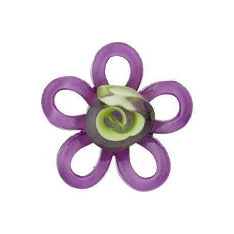 Glass Aspect Polyester Button - Purple Lola
