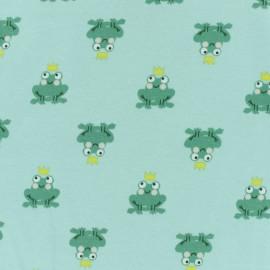 Tissu jersey grenouille - vert x 10cm