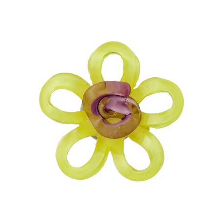 Glass Aspect Polyester Button - Yellow Lola
