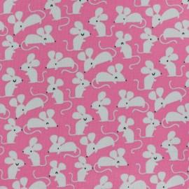 Tissu jersey souris - rose x 10cm