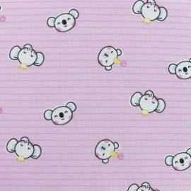 Cotton jersey fabric - Pink Tobby and friends x 10cm