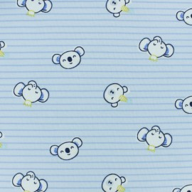 ♥ Coupon 280 cm X 150 cm ♥ Cotton jersey fabric - Blue Tobby and friends
