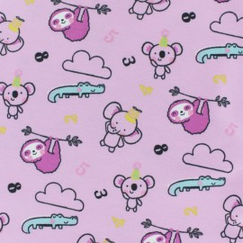 Cotton jersey fabric - pink Tobby & Jazzy x 10cm