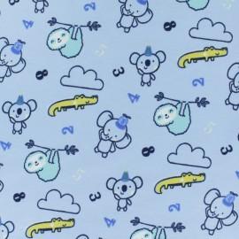 Tissu jersey Tobby & Jazzy - bleu x 10cm