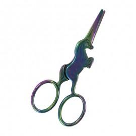 10 cm Unicorn embroidery scissors - rainbow