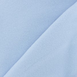 Plain Cotton security blanket - sky blue x 10cm