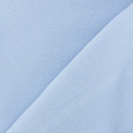 Tissu Polaire Coton uni - bleu ciel x 10cm