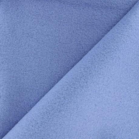 Tissu Polaire Coton uni - bleu houle x 10cm