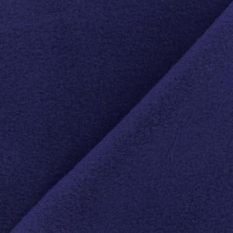 Tissu Polaire Coton uni - bleu indigo x 10cm