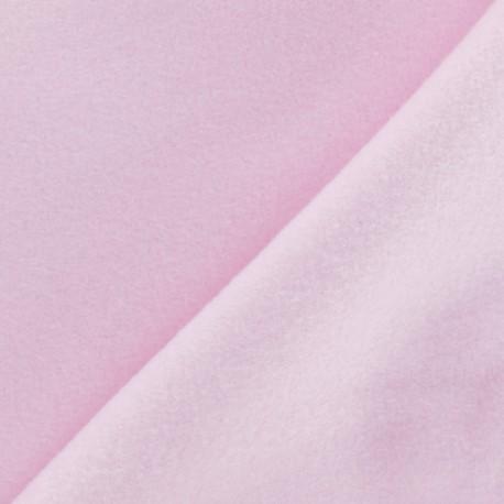 Tissu Polaire Coton uni - rose layette x 10cm