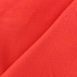 Tissu Polaire Coton uni - rouge x 10cm