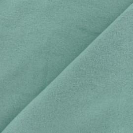 Tissu Polaire Coton uni - vert sauge x 10cm