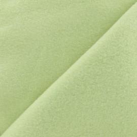 Tissu Polaire Coton uni - vert amande x 10cm