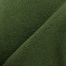 Plain Cotton security blanket - khaki green x 10cm