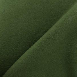 Tissu Polaire Coton uni - vert kaki x 10cm