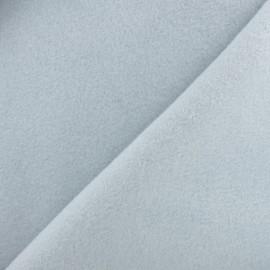Tissu Polaire Coton uni - gris clair x 10cm