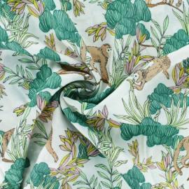 Tissu Viscose Canopy's Monkey - blanc x 10cm