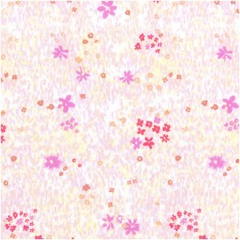Rico Design Poplin Cotton fabric - white Flower meadow x 10cm