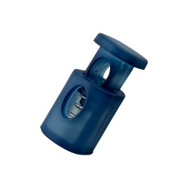 18 mm Translucent Polyester Cord Lock Stopper - Navy